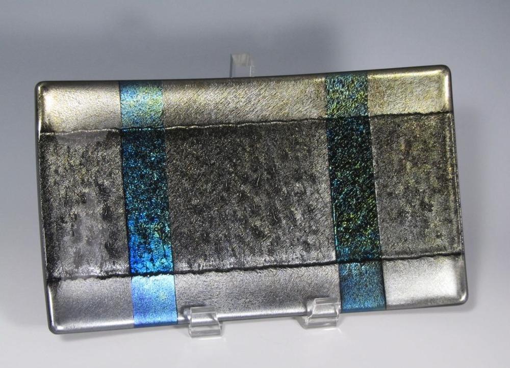 metallic iridescent plate