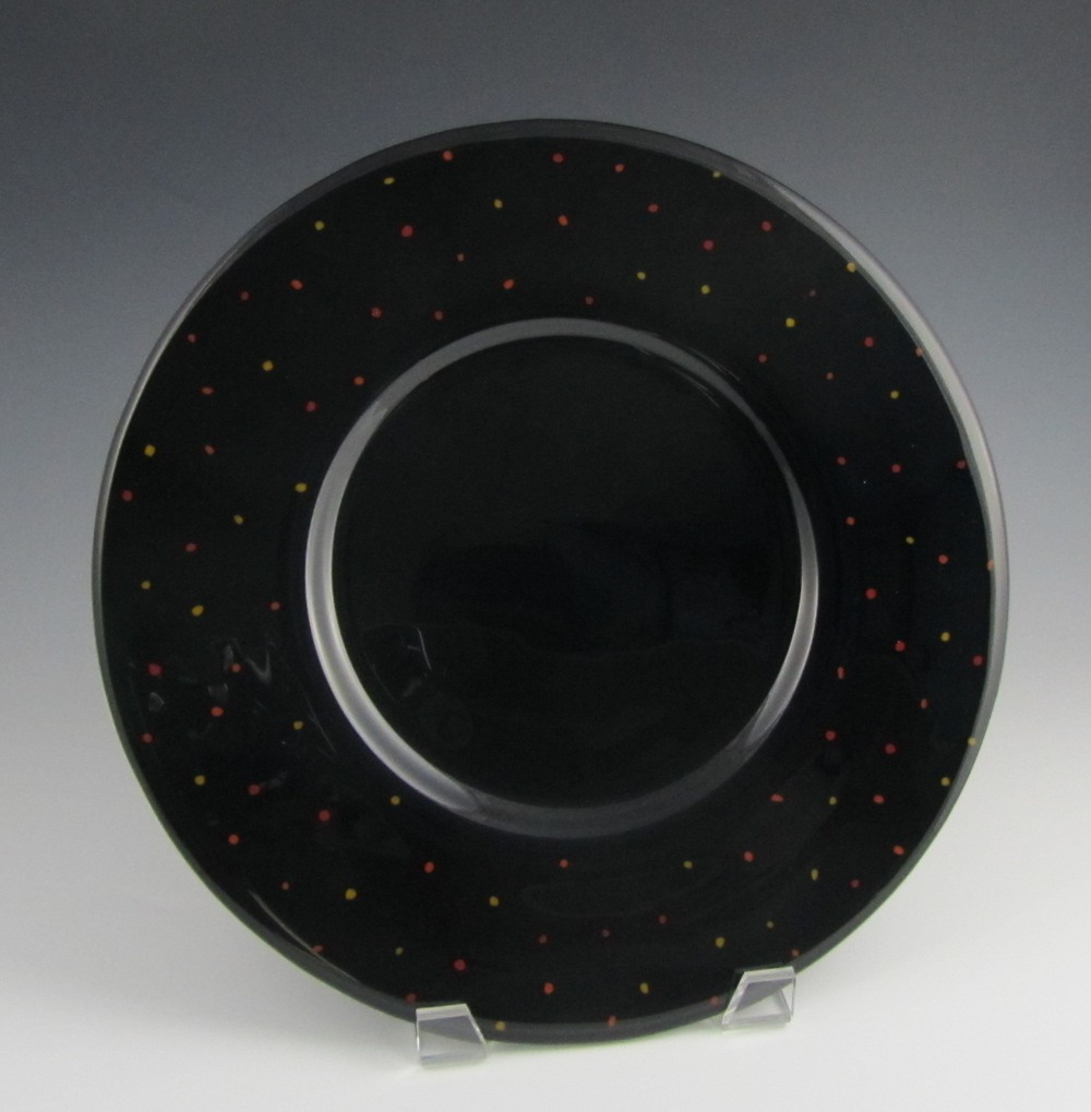 black speckled platter