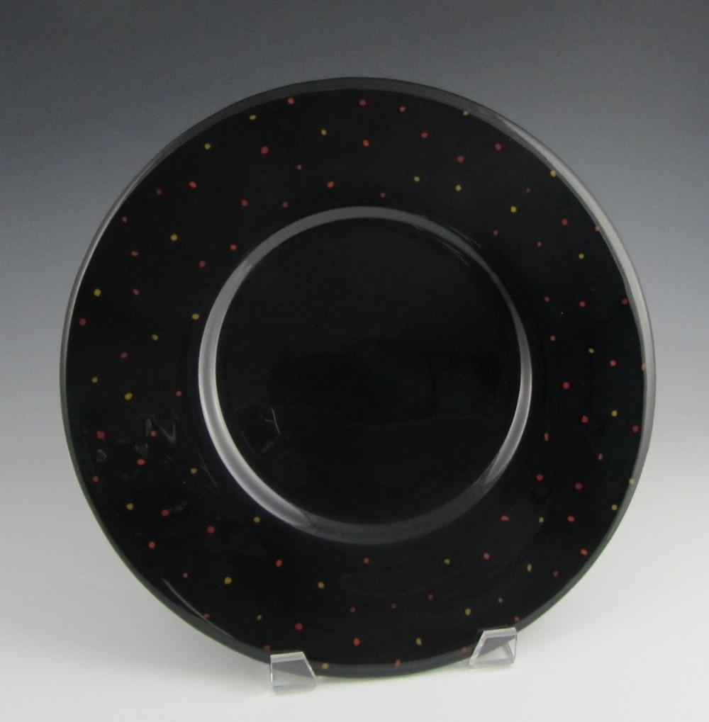 black speckled platter