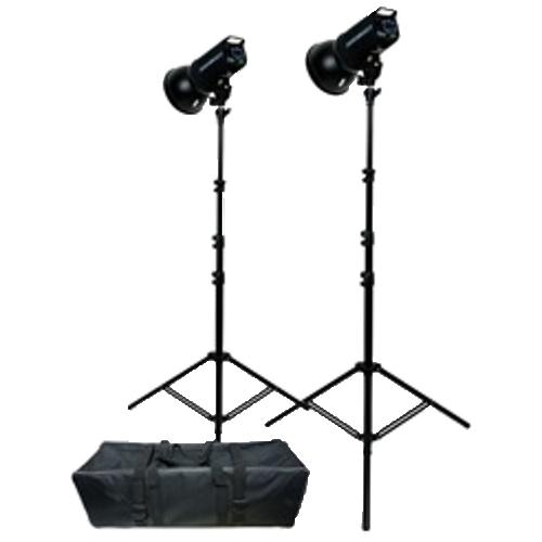 400 watt second flashes w/ umbrellas