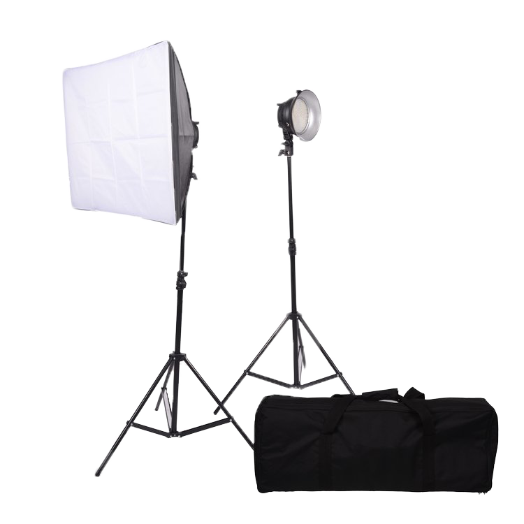 2-Light 380LED kit w/stands & softboxes
