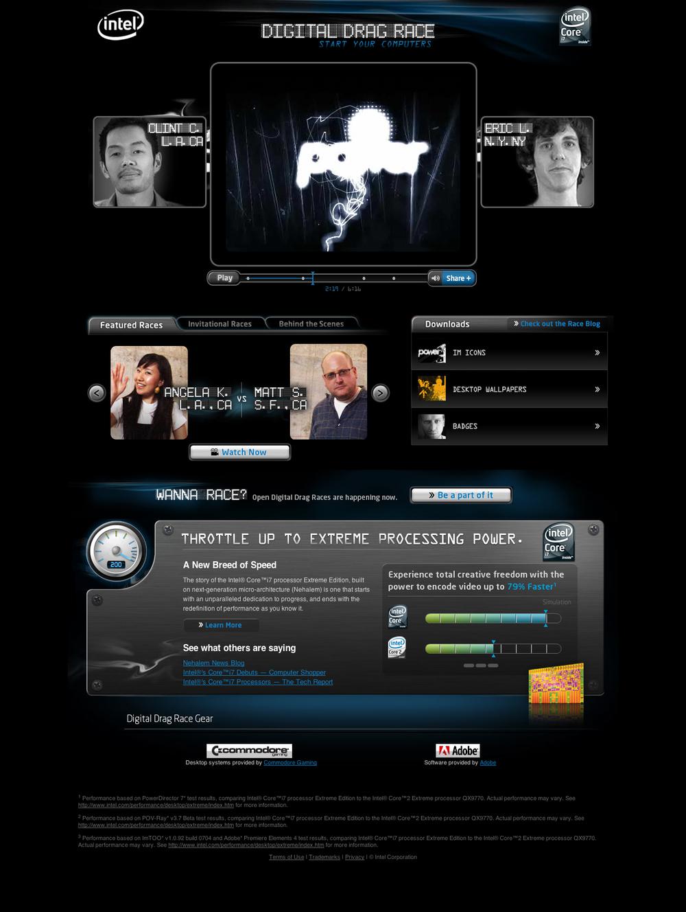 Intel's Digital Drag Race