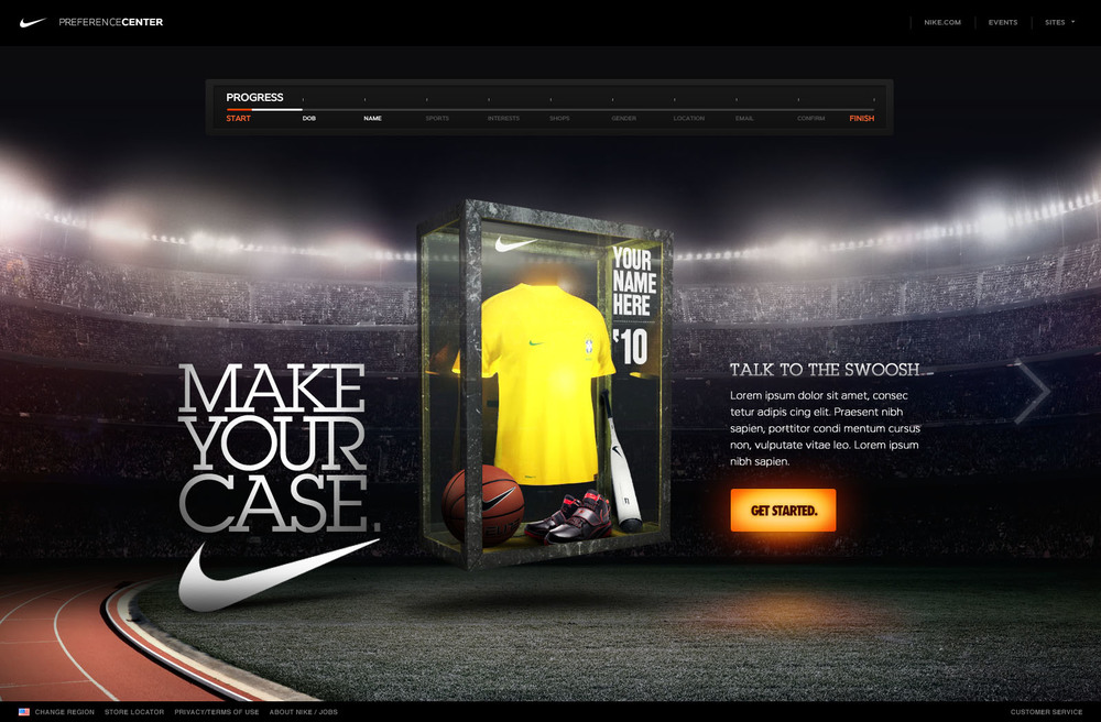 Nike Personal Preference Center
