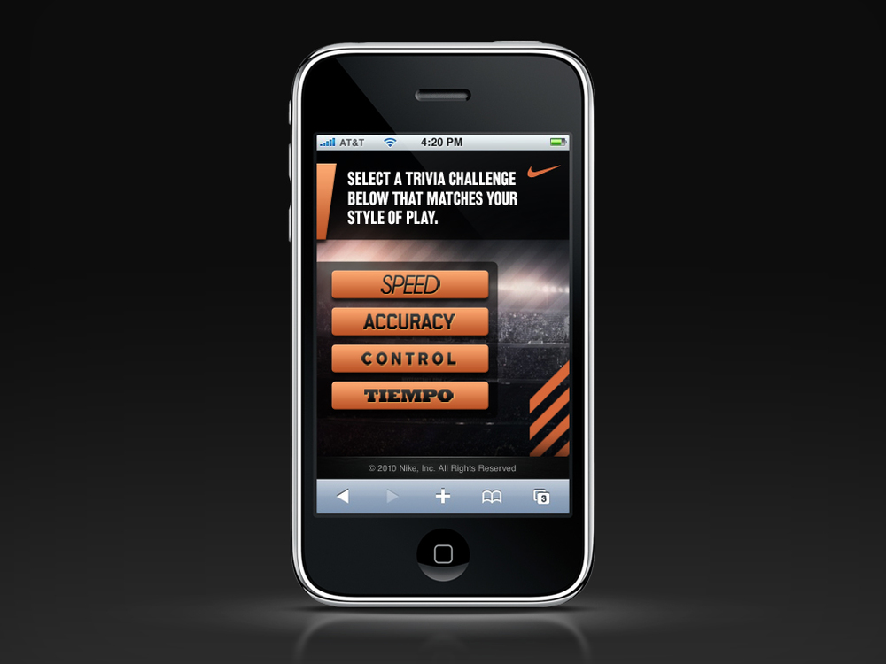 Nike Soccer Shootout Trivia Challenge