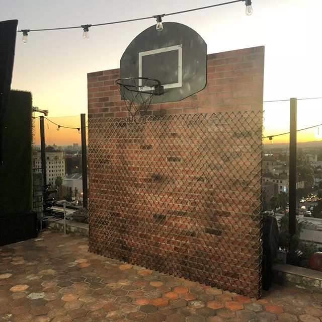 Street style basketball court 3D backdrop built on site at the rooftop at the Dream Hotel. Paired perfectly with our Boomerang Booth for engaging and interactive brand experience. #3dbackdrop #custombackdrop #boomerang #brandactivation