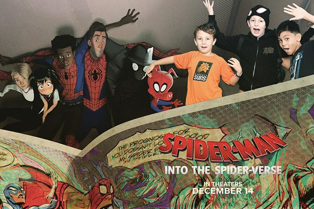 #Greenscreen fun at the @spiderversemovie screening! Fantastic movie, go watch Dec 14th!