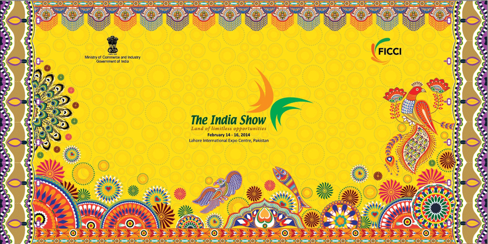 Graphic Banner, The India Show, Lahore, 2014