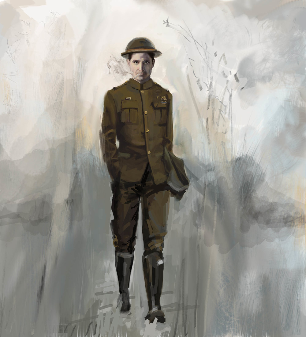 Send Us Smokes: Character design, World War 1 Father