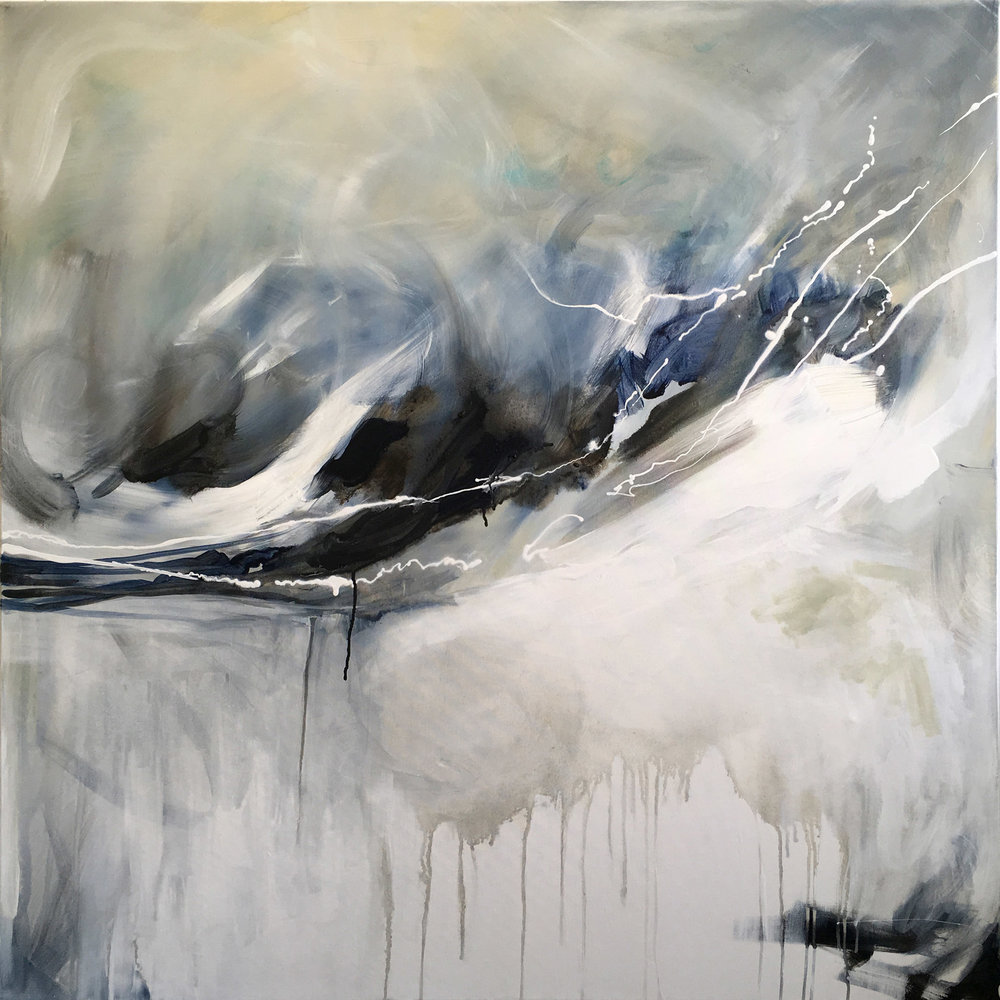 "Silver Lining: Available 48x48"" Original on Canvas."