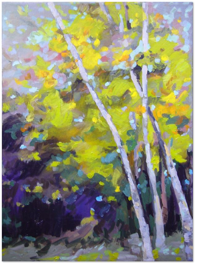 "Sherwood birch 18x24"" acrylic on canvas"