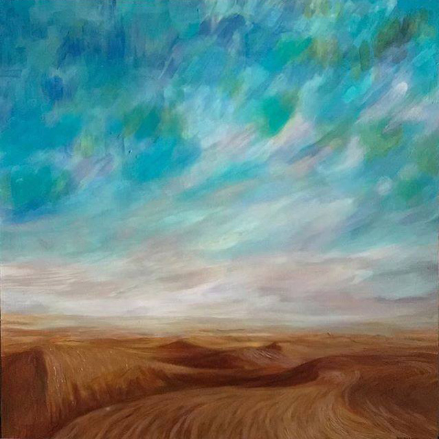 "silence of the desert 40"" x 40"""