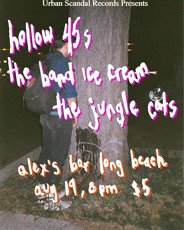 ⚡️SUNDAY⚡️Jcats, @hollowfortyfives and @thebandicecream are tearing up @alexsbarlbc! Doors at 8pm, only $5 to help out the bands. There may or may not be actual ice cream 🍦 . . .  #thejunglecats #music #longbeach #longbeachmusic #lamusic #la #newmusic #newband #rocknroll #band #indie #rock #oldschool #blues #localmusic #livemusic #psychedelic