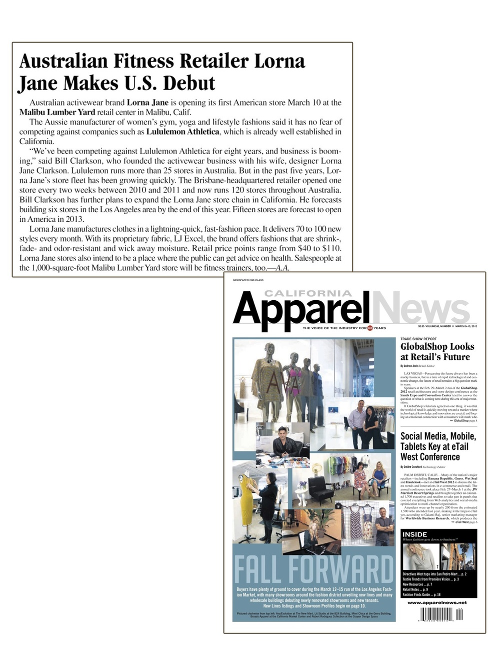 Mar. 9. 2012 - CA Apparel News - Lorna Jane.jpg