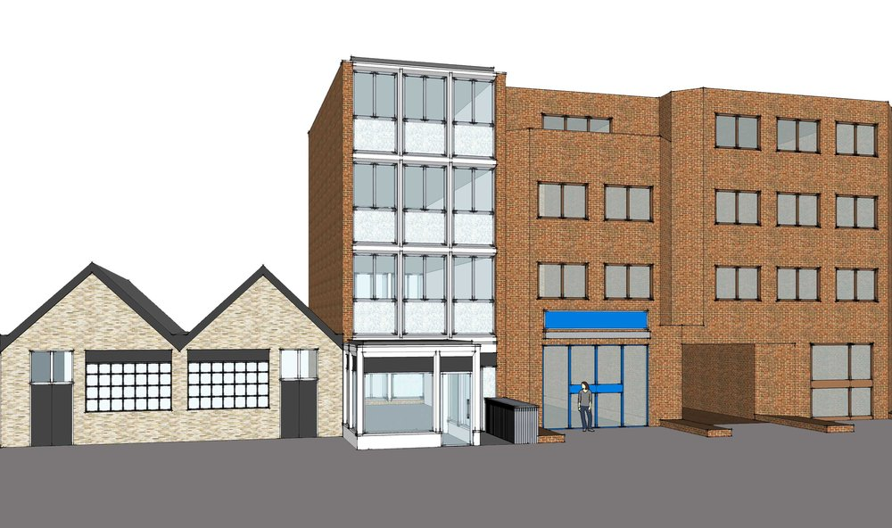 New build 210sqm mixed use development with a new shop for Forever Bridal on East Barnet Road in New Barnet.