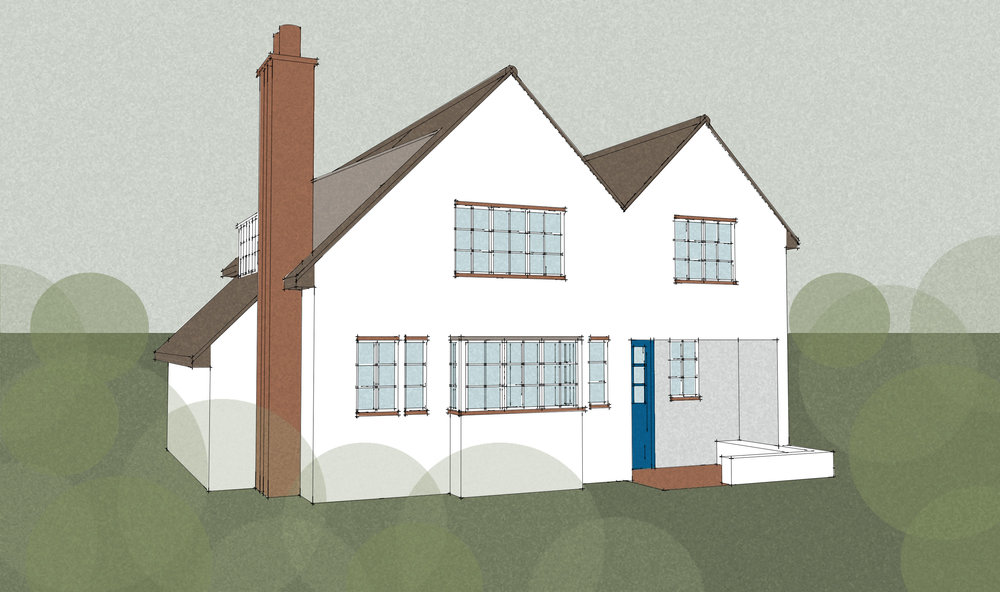 Extension and refurbishment of a detached house, Littlecote Cottage in Ingatestone.