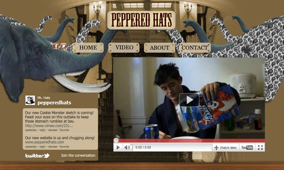 pepperedhats.com screenshot