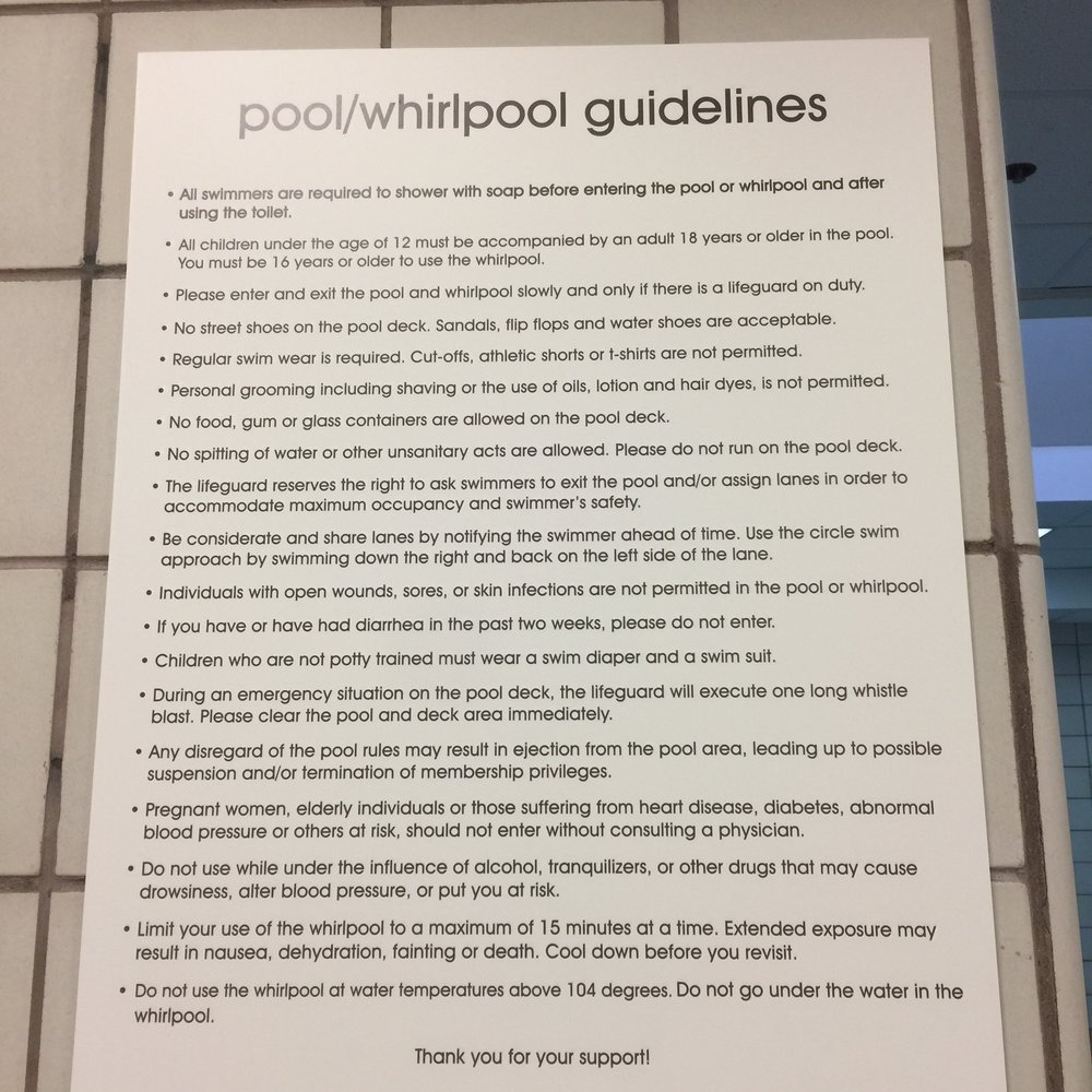 Pool and hot tub rules