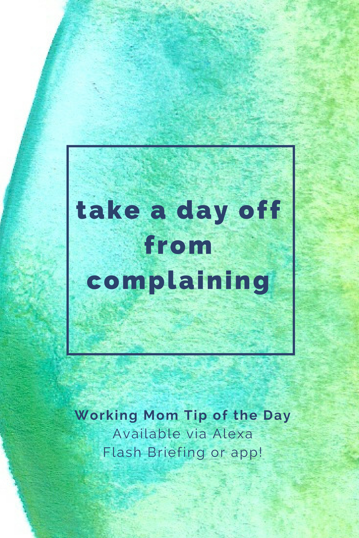 Working Mom Tip of the Day via Alexa- from Robin Camarote