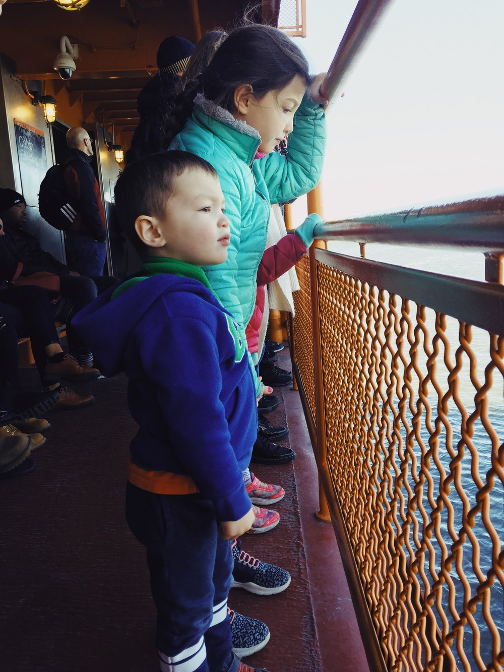 They have everything our immigrant ancestors would have hoped for an nothing they could have imagined. Here are our kiddos on the Staten Island Ferry looking at the Statue of Liberty while contemplating the American dream and the pursuit of Shopkin Gummies.