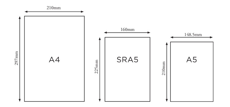 Book Cover Size : Book sizes paper options — printabook