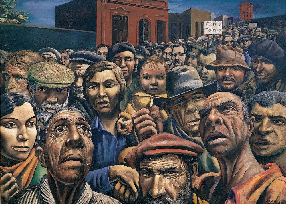 Manifestacion , by Antonio Berni (1934)