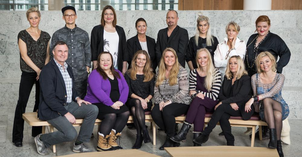 Gruppeportrætafdommerpaneletved Danish Beauty Award 2014