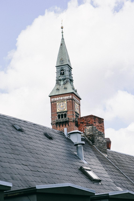 Udsigttil Københavns Rådhustårn fra kontoret hos Loft37