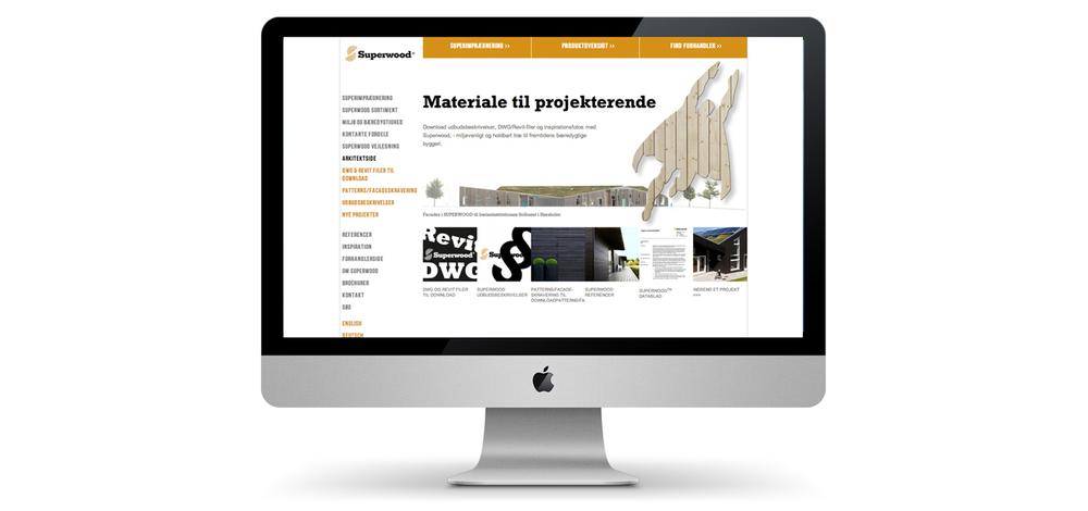 Opbygning og vedligeholdeslse af ny hjemmeside til Superwood