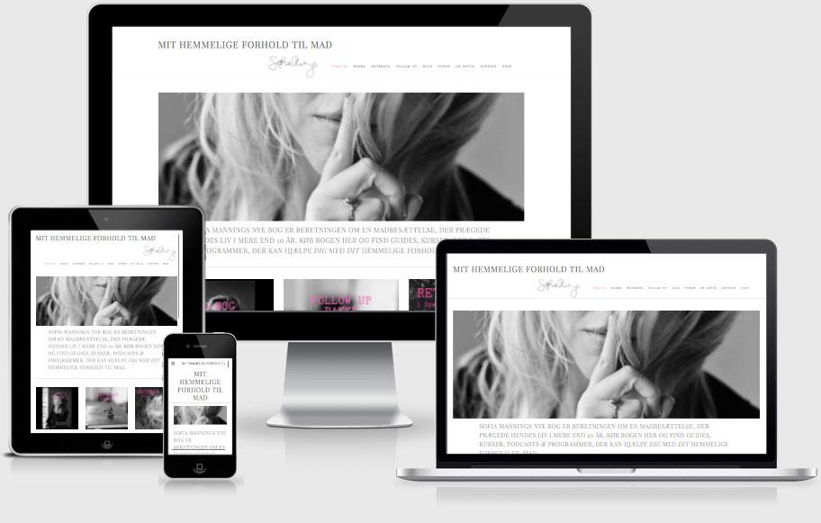Enkelt, rent og kreativt webdesign - med brugervenlig struktur