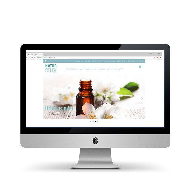 Webdesign og grafisk design for @natur_ren.dk OBS.: Mange dejlige natur-rene produkter at finde der 🍃 Want to see more? Take a look at my homepage 🖥 link in bio * * * * #webdesign #graphicdesign #designer #newwebsite #webstagram #clean #økologisk #nyhjemmeside #grafiskdesign #grafiskfacilitering #webshop