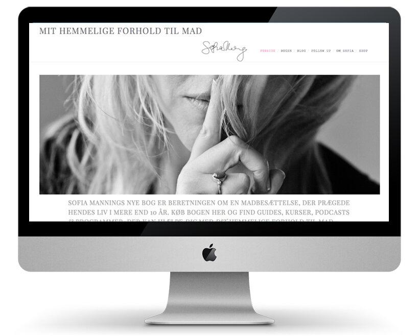 SOFIA MANNING Web design og webshop