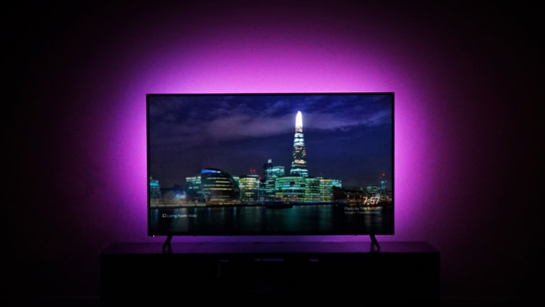 WATCHING TV WITH THE TV BACKLIGHT - Let your living room glow with subtle, beautiful light. Change it to the color of your favorite sports team on game day, lower the brightness level for mood lighting, or keep it on your favorite shade of white to enjoy the perfect TV ambient lighting.