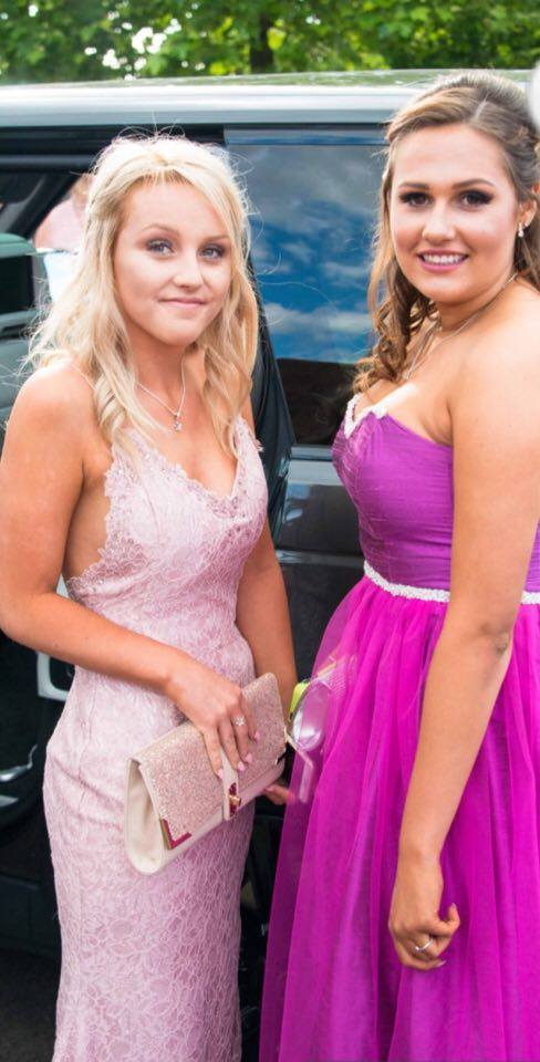 Two of our girls Nikki and Eleanor! Pretty in pink! How beautiful are they!