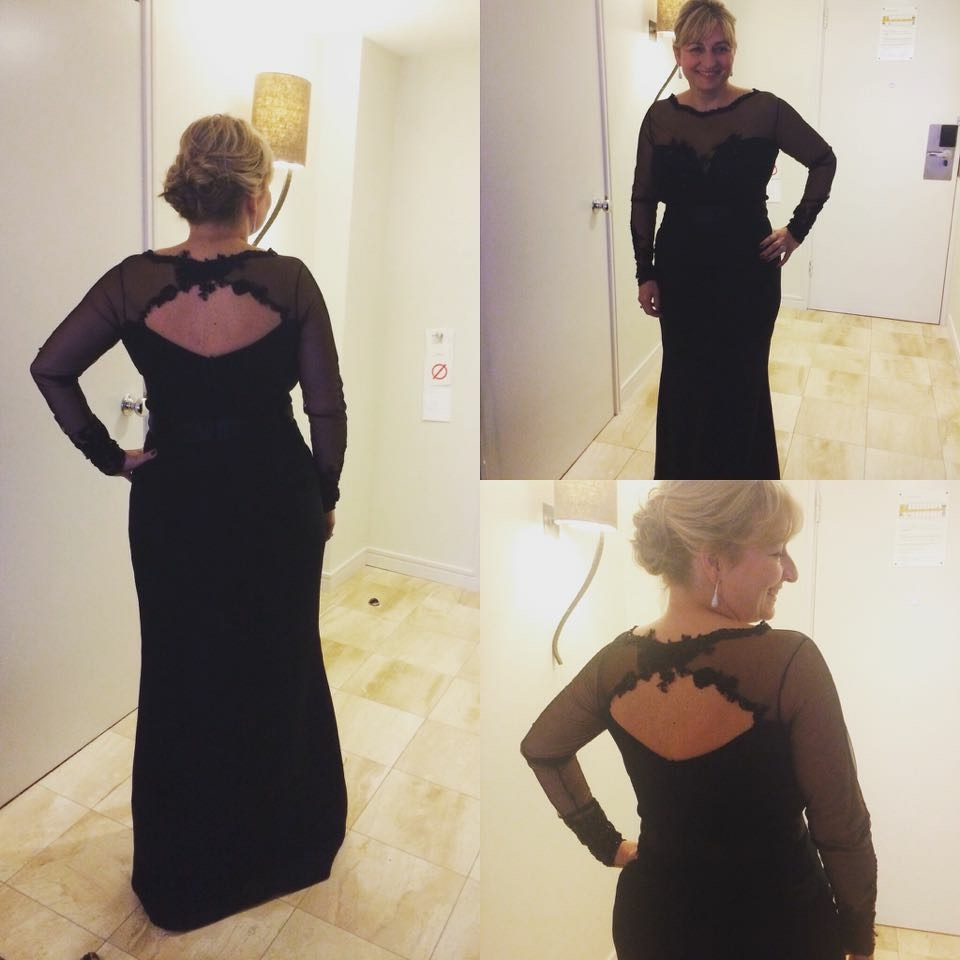 Birmingham Children's Hospital wearing amazing dress by Sophie Wynne-Owen I love it, feel amazing excited for tonight.