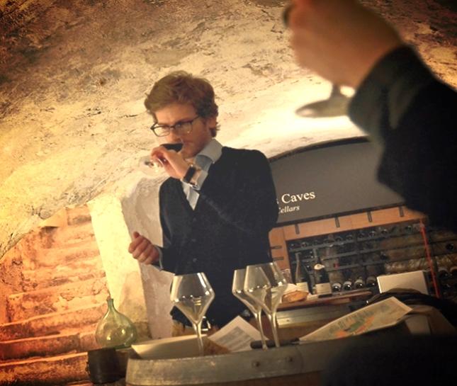 Tasting in a Vaulted Cellar in St Germain