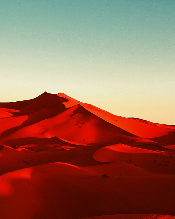 Red desert Morocco sand dunes by Nice Little Photos Etsy Shop