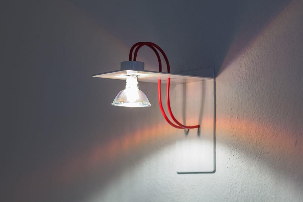 Lanzi Lampada in ferro da muro