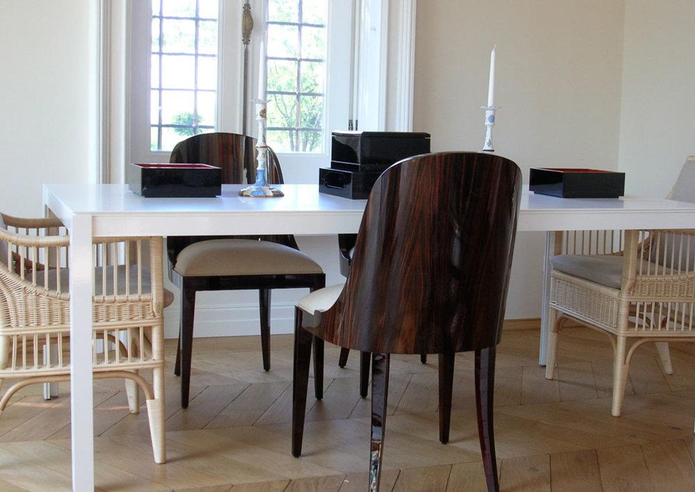 L402 - tavolo in metallo e legno — Lanzi