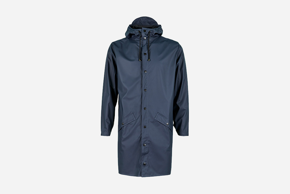 Rains - Long Jacket, Navy