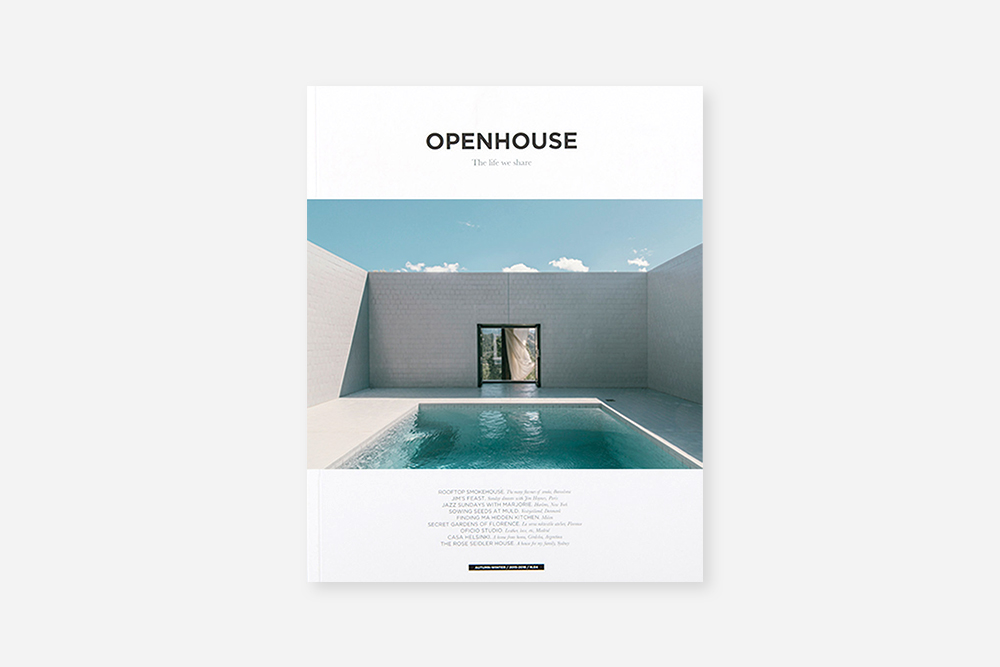 OPENHOUSE - Volume 5 Daydream on that park blanket or beach towel with the latest copy of OPENHOUSE. Also goes well with coffee on a rainy day. $25