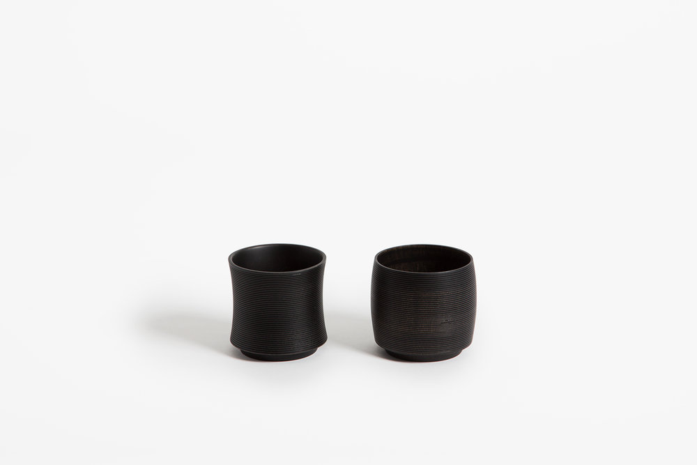 Turari - Wood Cups, Black