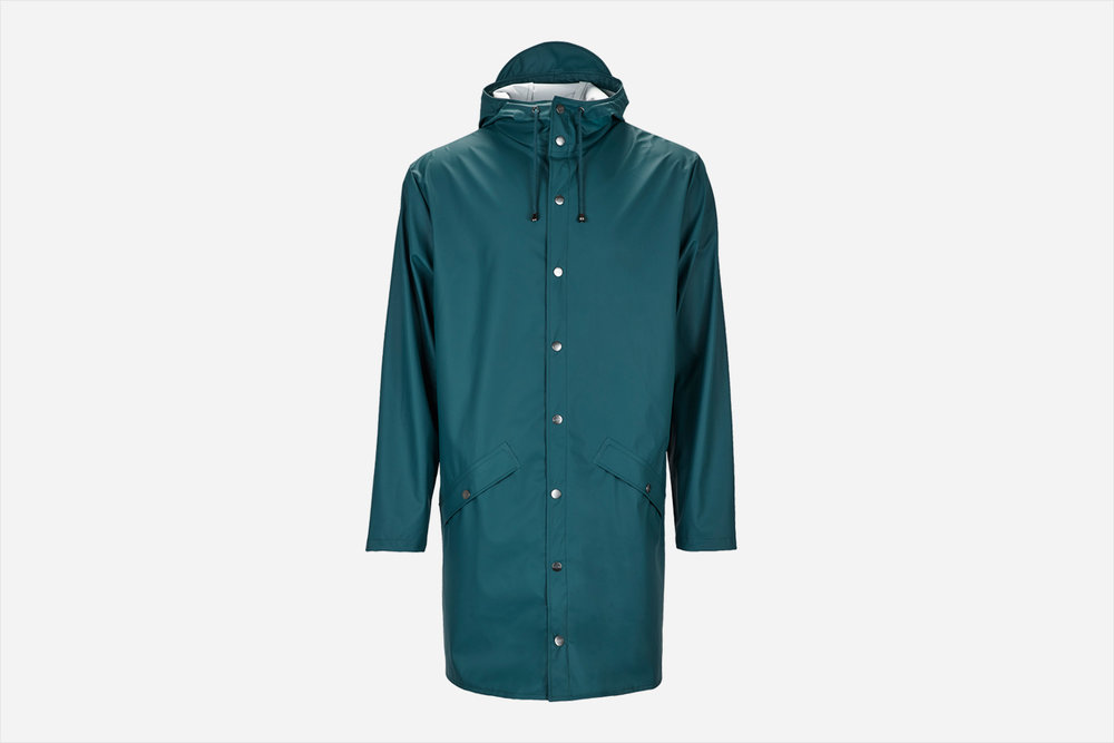Rains - Long Jacket, Dark Teal