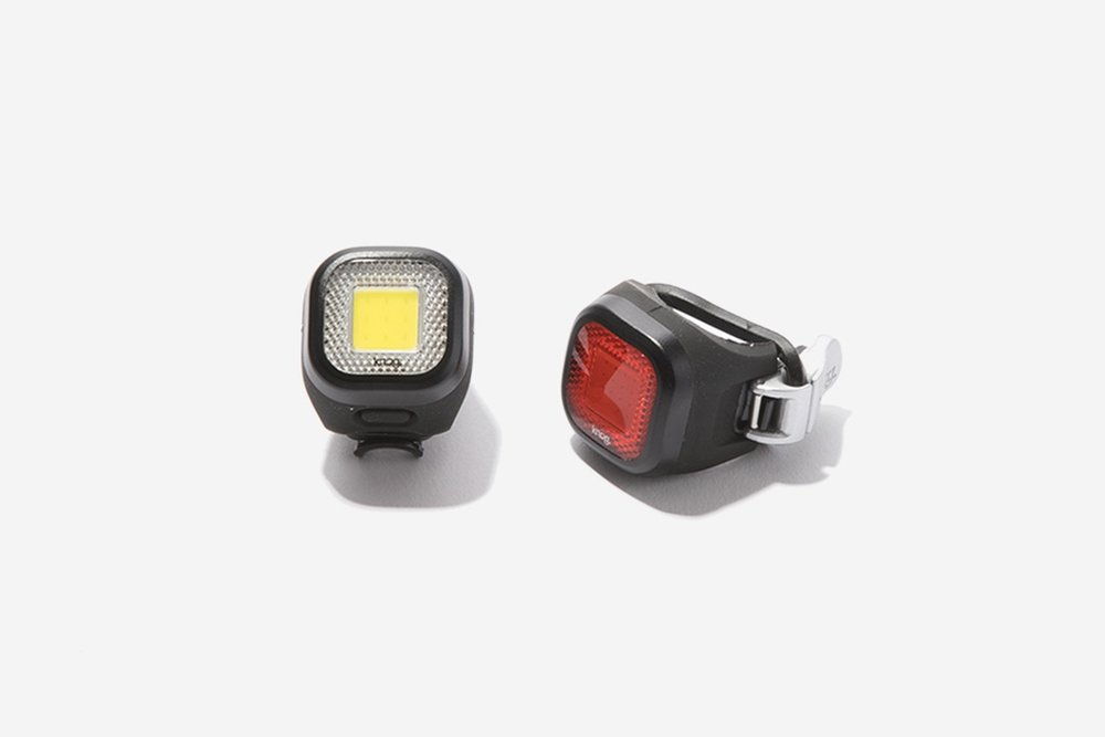 K    nog - Mini Chippy Twinpack    The bright little lights from Knog will keep you safe on the commute home after dark. The Mini Chippy lights are USB rechargeable and plug right into a usb port, no cords required. Simple, safe, and cute!   $55