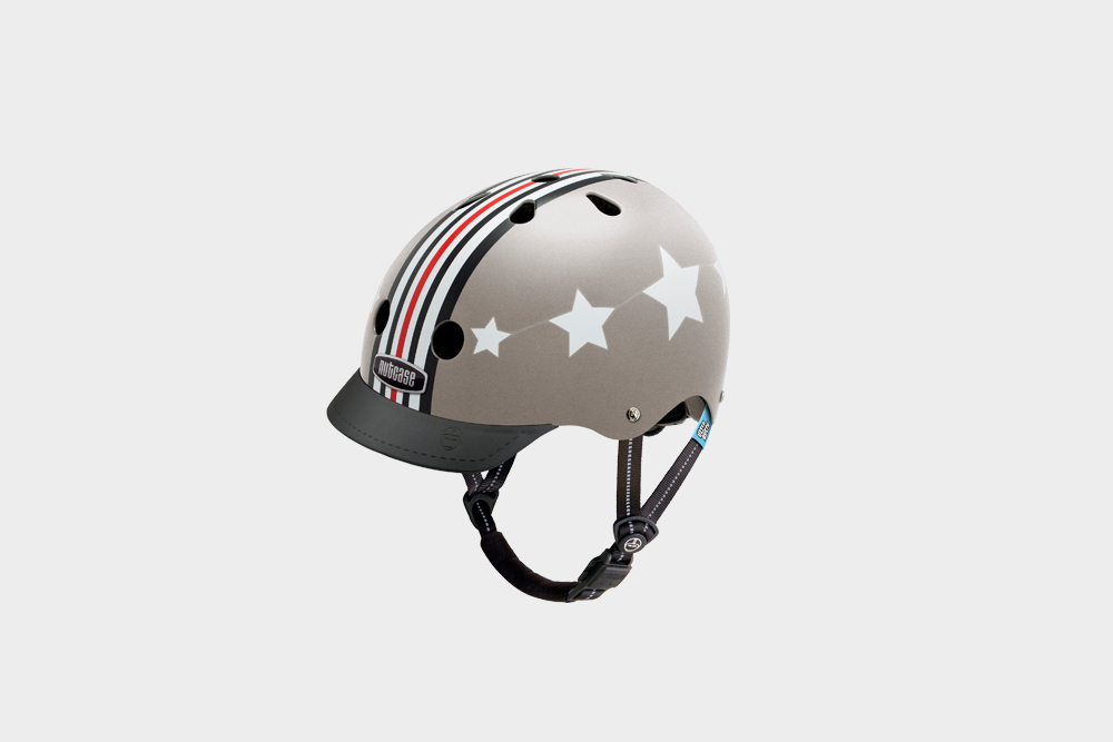 Little Nutty Silver Fly Helmet The best helmet, is the helmet they actually want to wear. Keep that little melon safe this year with a Little Nutty. Suitable for the cautious ones, and the Evel Knievel's in training. $60