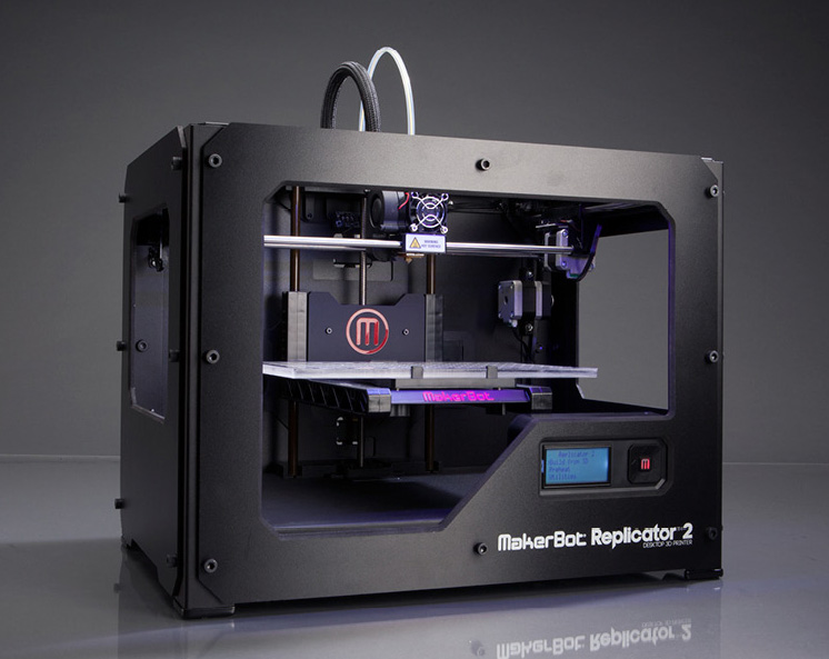 The MakerBot: Replicator 2, the model we have at theCO