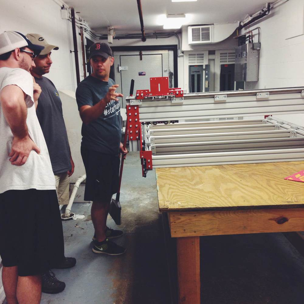 Wood CNC Router in set-up process