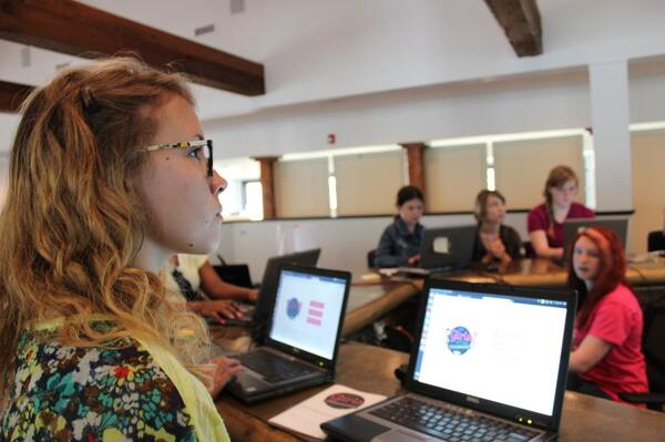 photo taken from the 100 Girls of Code event hosted by theCO in mid June