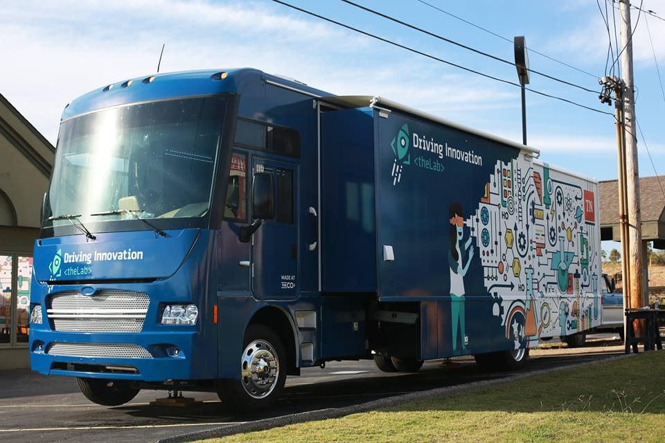 "We were beyond excited to launch the first of our ""Driving Innovation"" buses created in partnership with the state at the Governor's Conference. Two more to come in 2018!"
