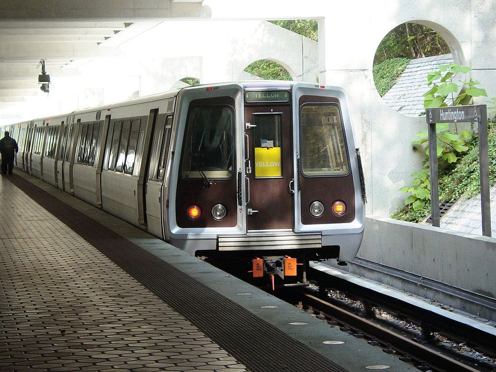 Subway Train at Huntington Metro