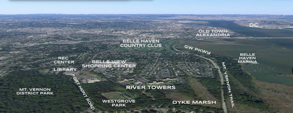 Arial View Of River Towers Neighborhood